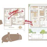 実施例 [1] パーソナルチェアを1階から2階へ移動(屋内)